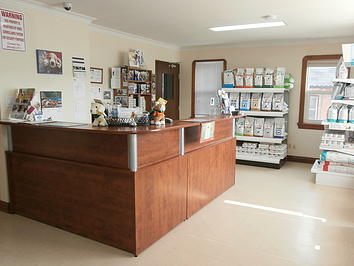 Pickering Village Pet Hospital Front Dest and Products